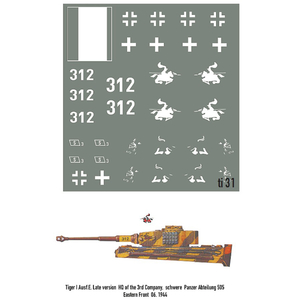 (312) TIGER I Ausf.E. Late version HQ of the 3rd....