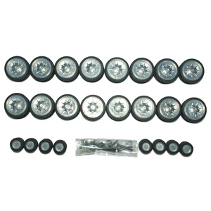 Panzer IV - Metal road wheels + support rollers incl. tire