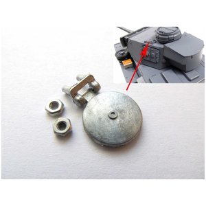 Panzer III/IV - turret signal port hatch, kit made of metal