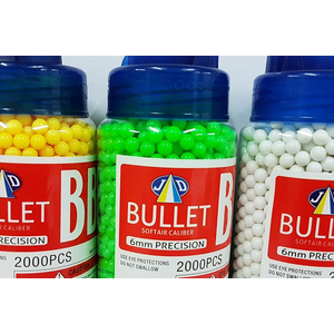 Ammunition balls softair 6mm polished - 2.000 shots for...