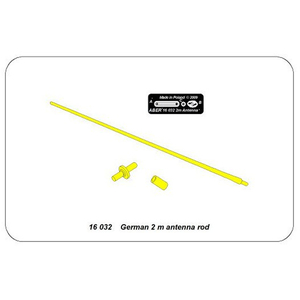 ABER, for 1/16 tanks, german 2m antenna
