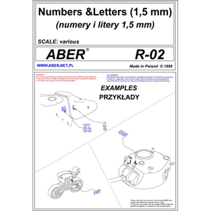 ABER - numbers and letters (1,5 mm)