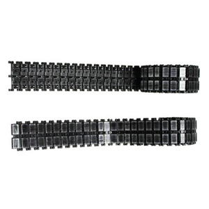 Leopard 2A6 - HQ metal tracks, black, for Heng Long or...