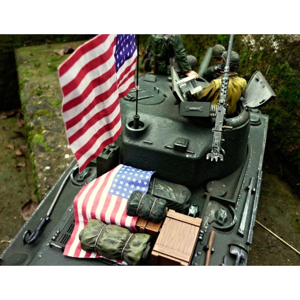 ensemble de drapeau americain pour chars 1 16 12 95. Black Bedroom Furniture Sets. Home Design Ideas