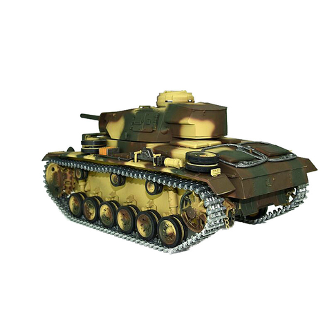 360° Taigen 2.4 GHz Metal edition Panzer III + Gun recoil system + smoke and sound +IR system