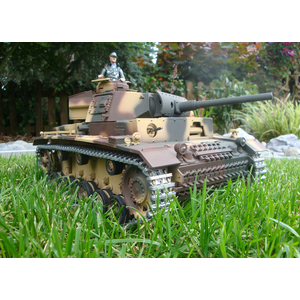 360° Taigen 2.4 GHz Metal edition Panzer III + Gun recoil...