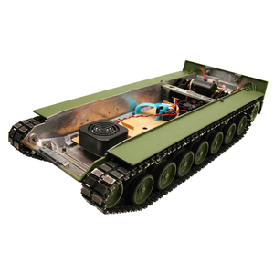 Painted Leopard 2A6 full metal lower hull complete kit...
