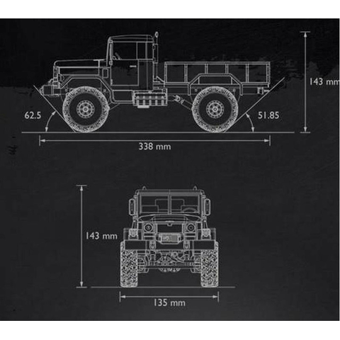 1/16 US RC Military Truck Grün