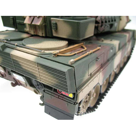 Metal edition V3 LEOPARD 2A6 Recoil unit + IR 1:16 - 2.4 GHz with full metal lower hull and turret + 4.1 steel gearboxes + metal tracks + metal sprocket/Idler wheels + metal road wheels
