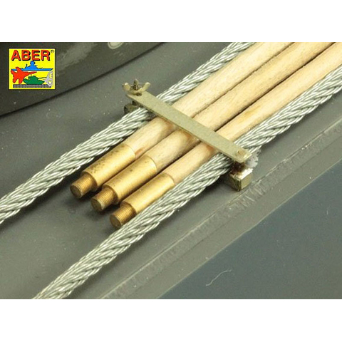 ABER - Tiger I early version 1240mm, barrel cleaning rods with brackets