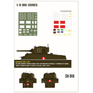 Sherman MK V BI paint mask in 1/6