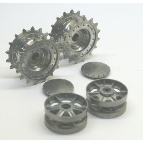 KV-1 - sprockets and idler wheels with ball bearings, made of metal