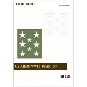 US Army WWII Star 03/1, Lackierschablone in 1/6