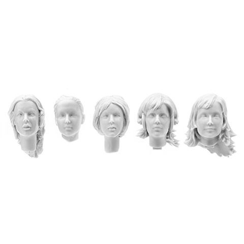 SOL - 1/16 German female tank crew head set, 5 pcs.