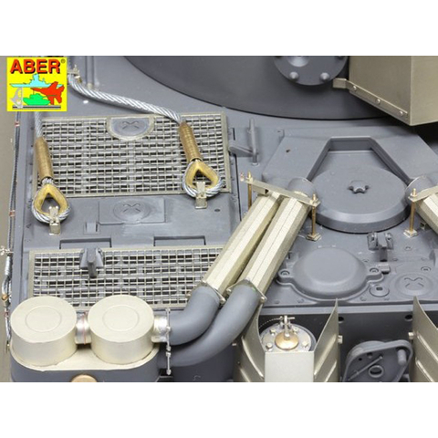 ABER - Tiger I, Ausf. E, air filter covers, Tunesia, dept. 501