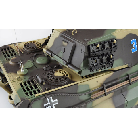 V6.0S King Tiger Henschel version 1:16 with BB shoot unit 6mm and IR system new version with wooden transport box