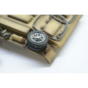 Panzer III - metal spare wheel with rubber