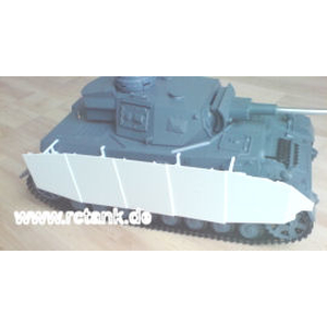 Panzer IV, aprons and holders made of polystyrene
